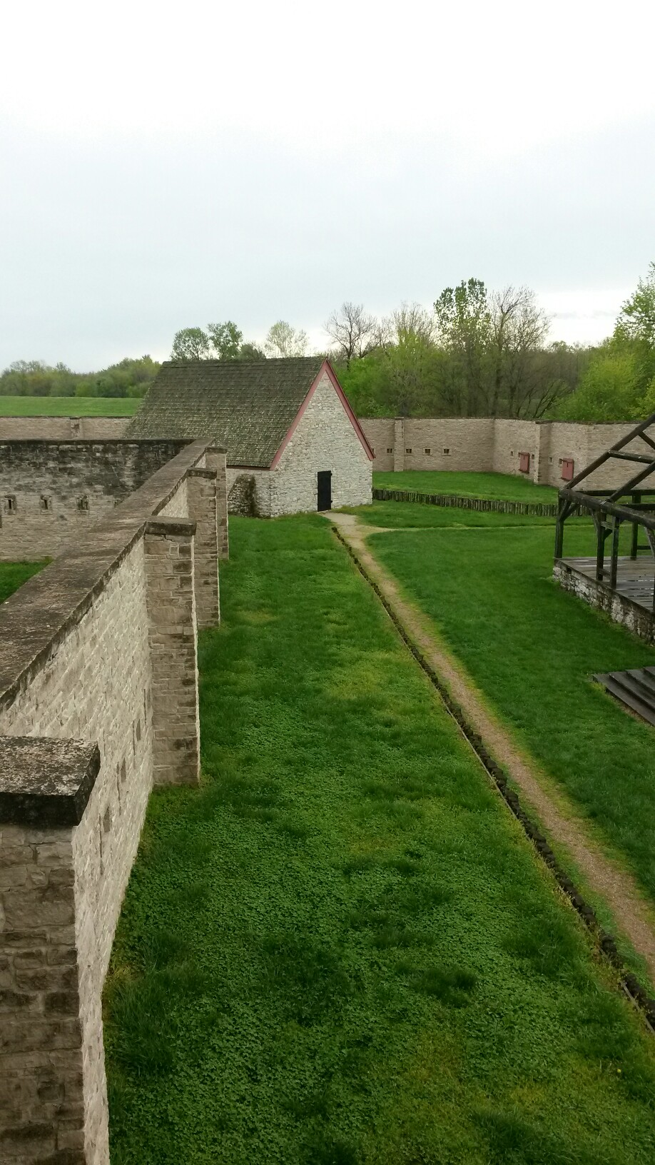 Inside of Fort de Chartres