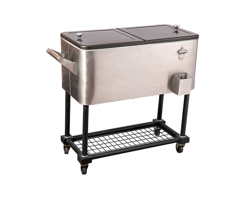 Basic configuration of portable cooler cart