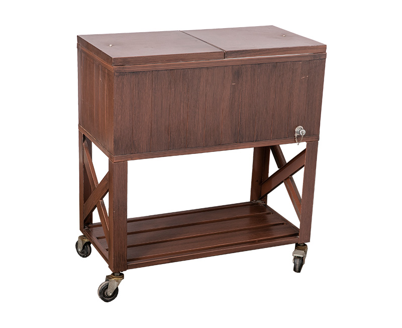 The Wood Grain Effect Cooler Cart Product Overview